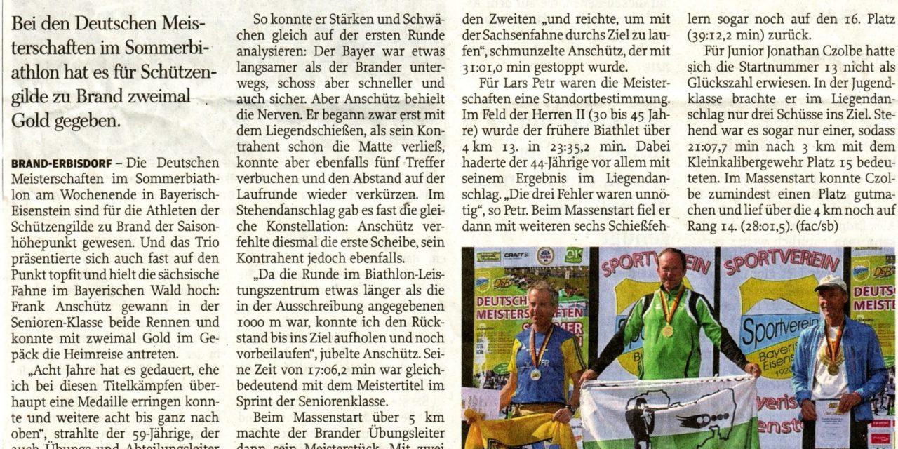 DM Sommerbiathlon 2015 in Bayerisch-Eisenstein